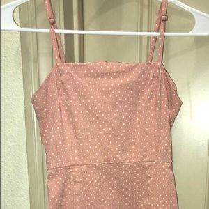 Forever 21 pink polka dot dress